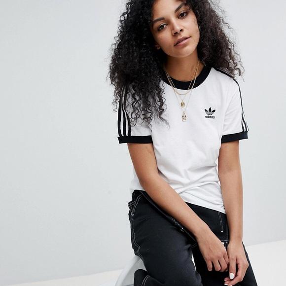 Adidas Trefoil 80's Originals 3 Stripe T Shirt
